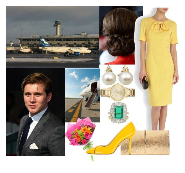 """Argentina Tour Day 4: Being sent off at the airport by the President & his wife, leaving for Amsterdam"" by pompcircumstance ❤ liked on Polyvore featuring Reiss, Nina Ricci, Charlotte Olympia, BERRICLE, Chaumet, Kate Spade, Aston Martin and country"