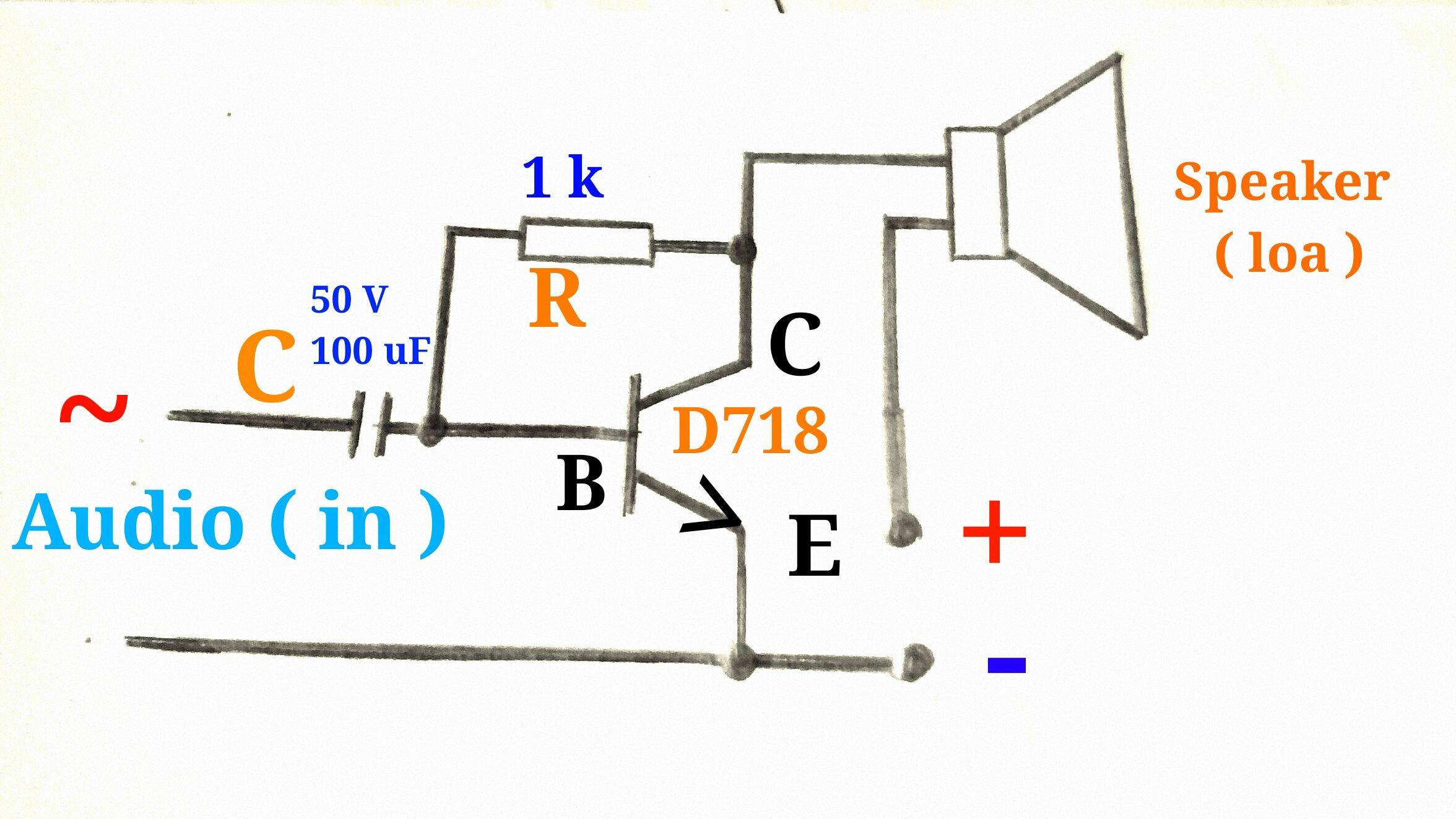 Mch Khuch I M Thanh Dng Transistor D718 In T Trong 2018 Electronic Circuits Diagramselectronics Projects Designshobby