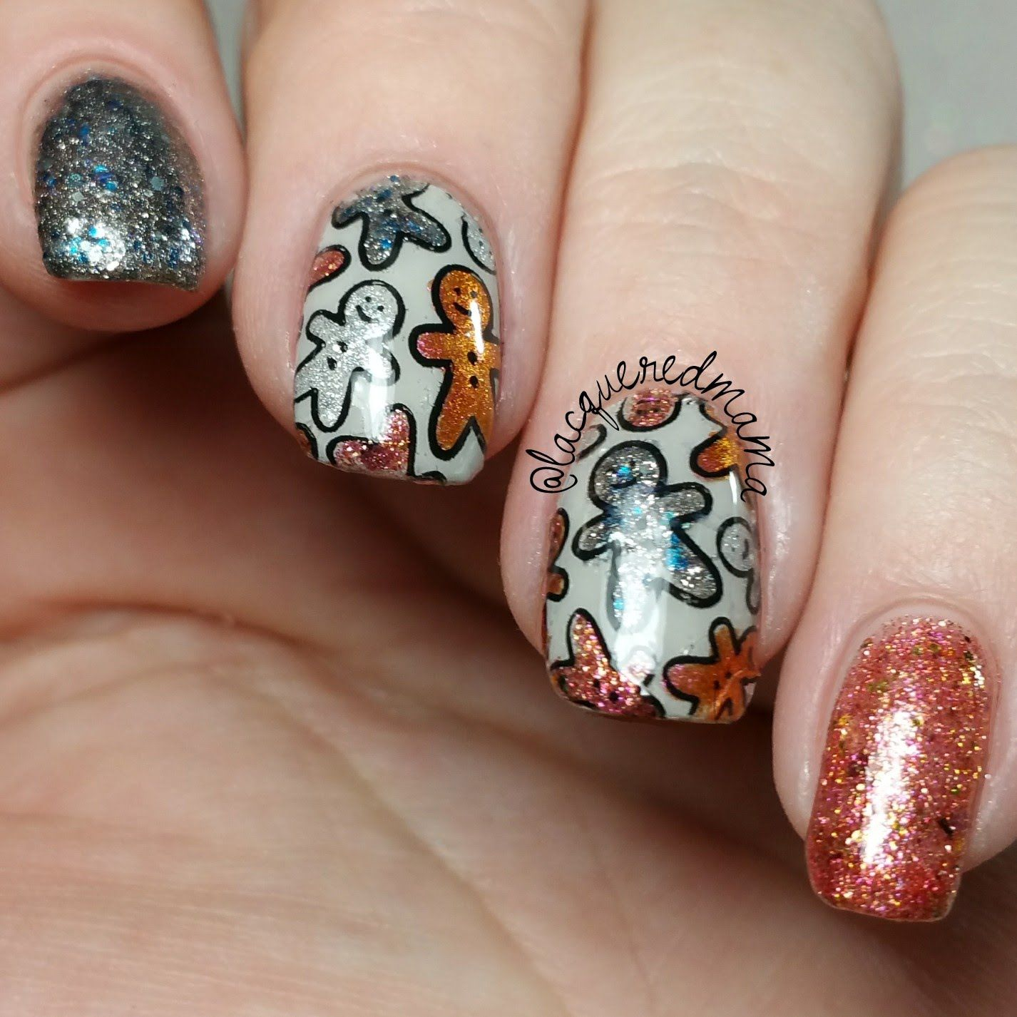 Christmas Nail Art Tutorial Gingerbread Galore: UberMat Decal Video Tutorial
