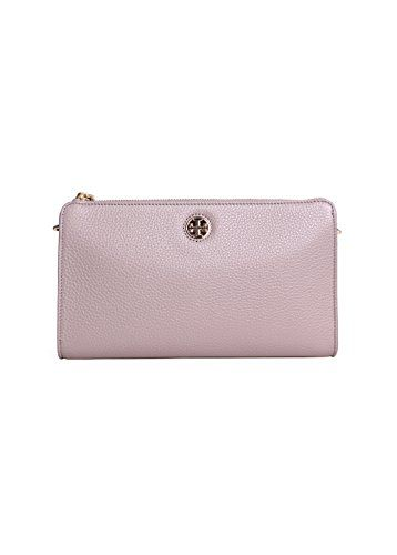 3af5d8f3acdb Tory Burch Robinson Pebbled Wallet French Grey