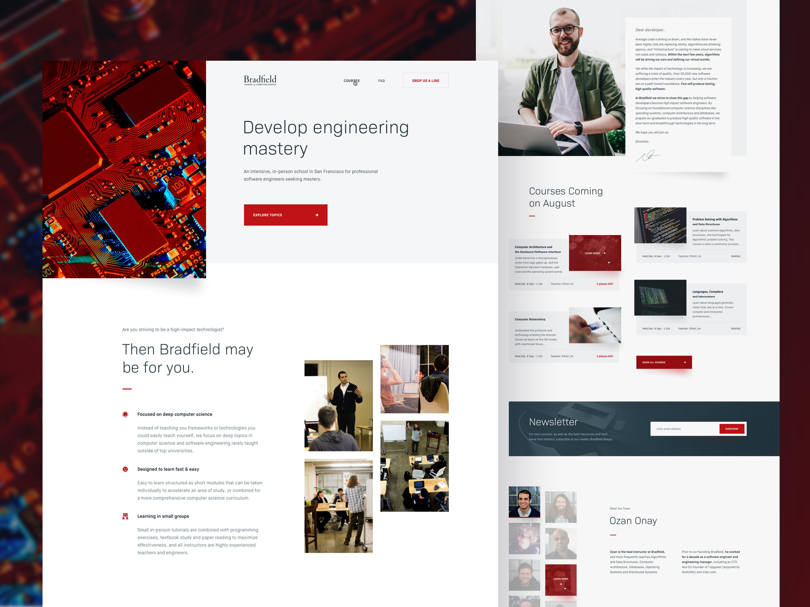 Bradfield Landing Page In 2020 Landing Page Web Design Web Design Inspiration