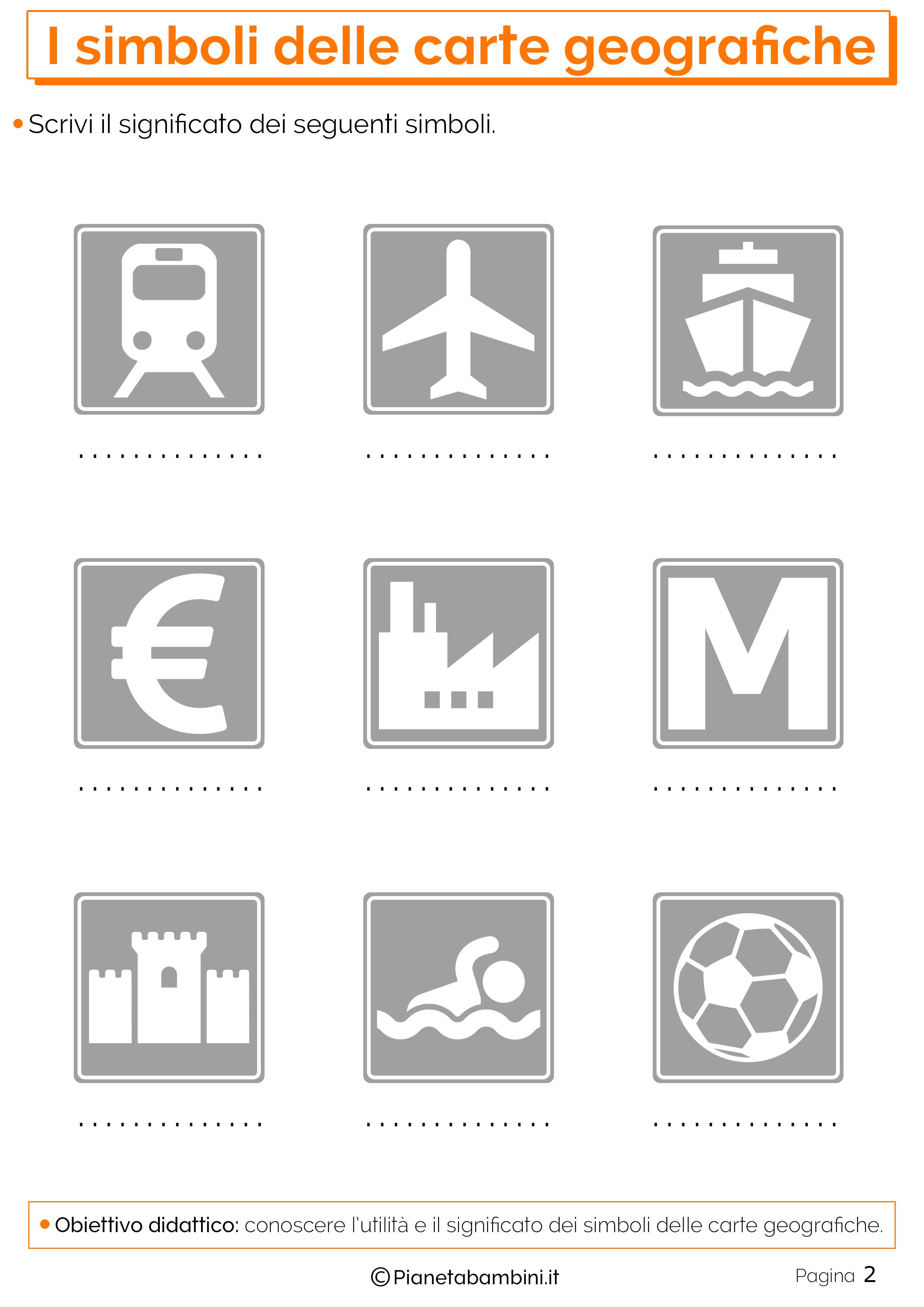 I Simboli Delle Carte Geografiche Esercizi Per La Scuola Primaria