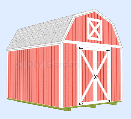 10x12 gambrel shed plans with loft add a window or two for Gambrel shed plans with loft