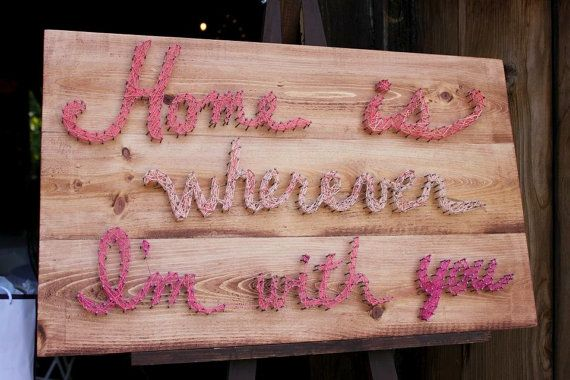 String Art  Ombre Home Lyrics by HeartFeltByBri on Etsy, $100.00