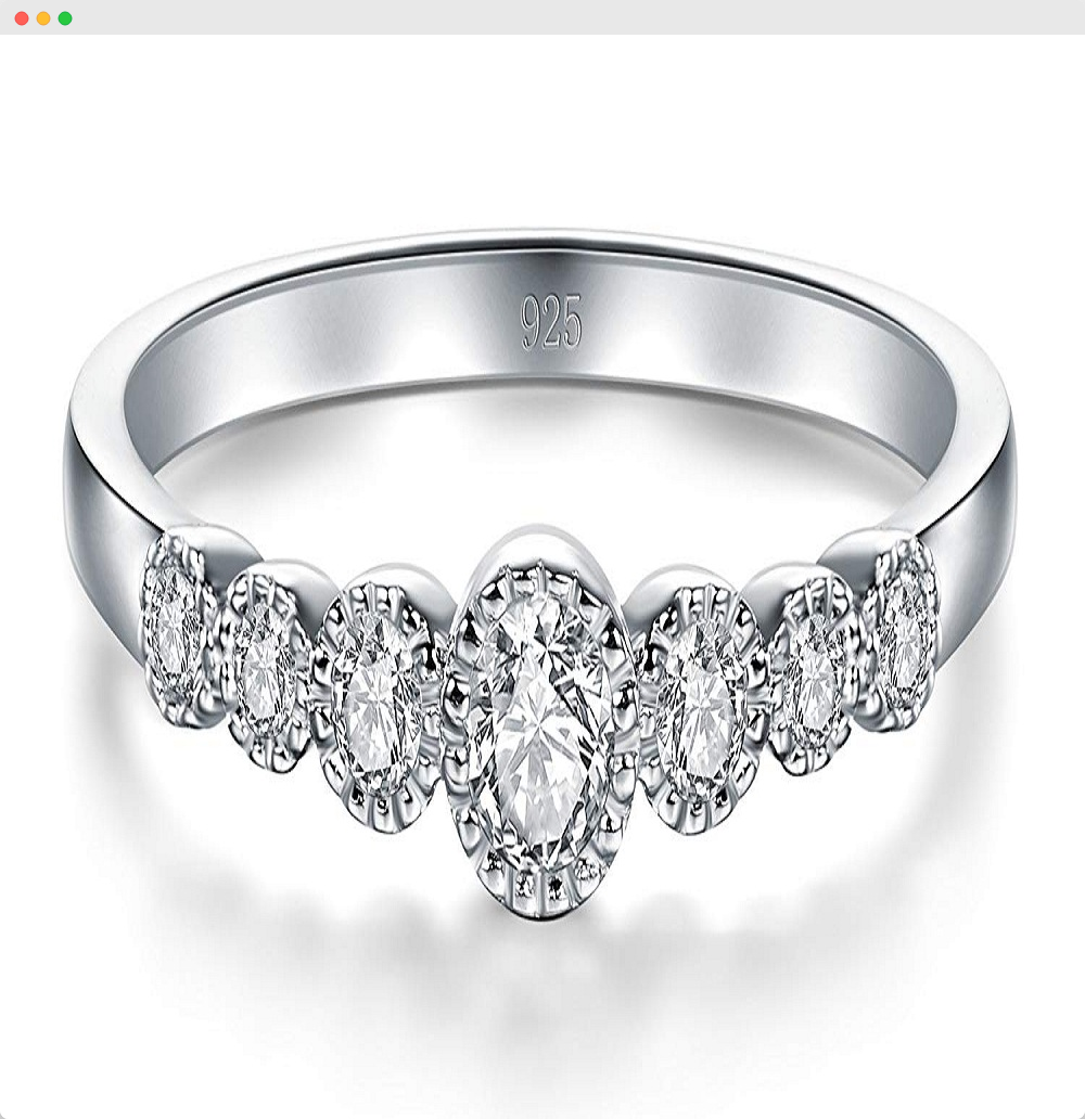 Cubic Zirconia Cz Diamond Eternity Engagement Ring Eternity Ring