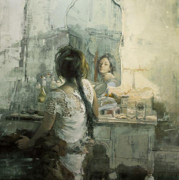 The White Vanity, por Jeremy Mann