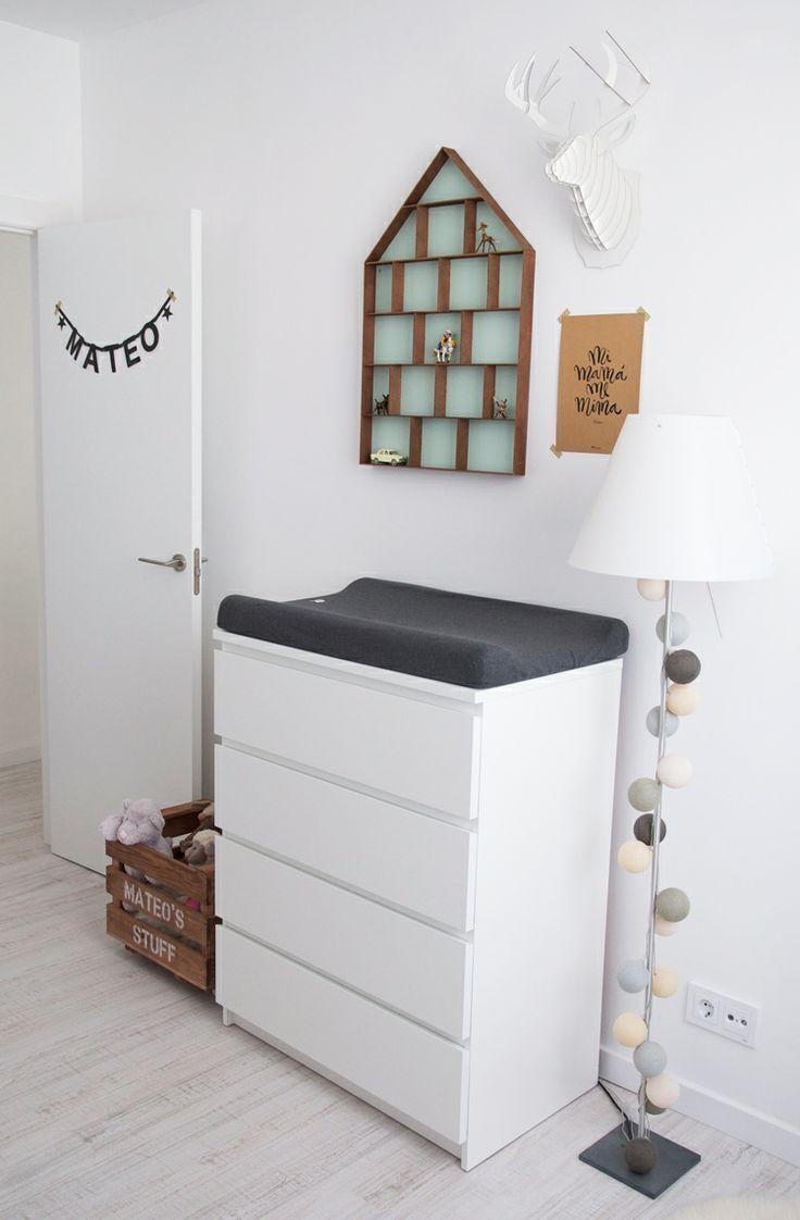 Cambiador de ikea MALM decoración cuarto bebe | Habitaciones de ...