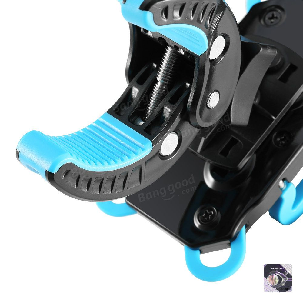 BlitzWolf® BW-MH2 Heavy Duty Bike Phone Mount Holder with Tight Rubber Band & 360 degree Rotate Sale - Banggood.com