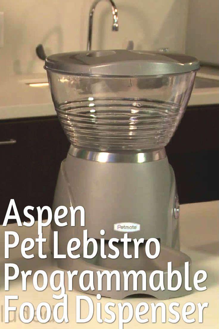 The aspen pet lebistro programmable food dispenser also