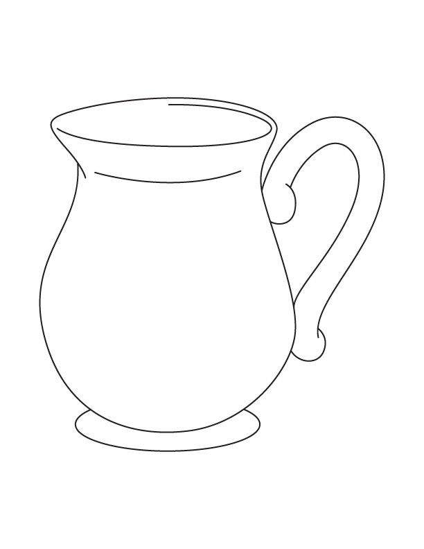 coloring pages pitcher of water - photo#18
