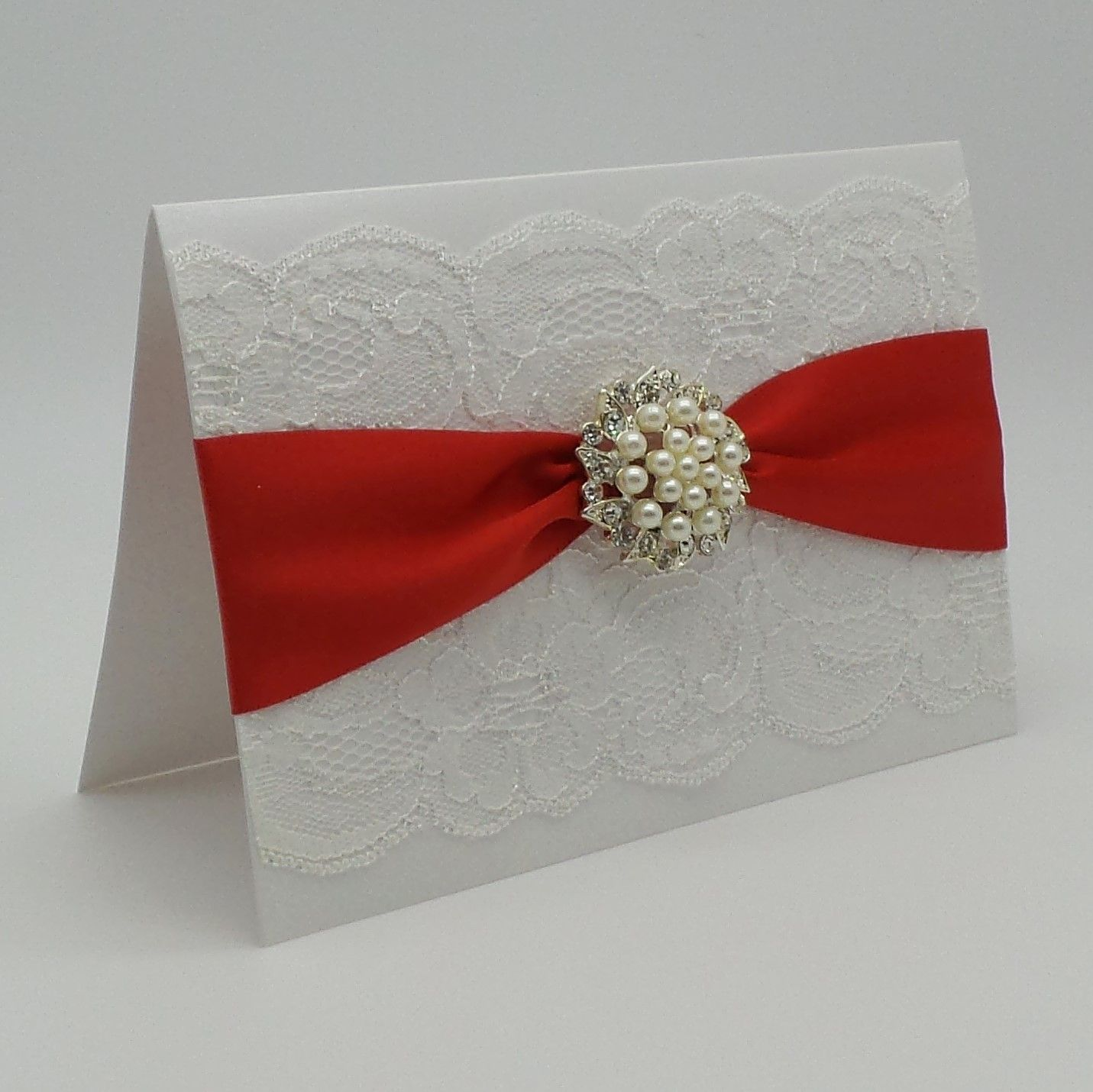 BLACK WHITE IVORY LACE WEDDING INVITATION HANDCRAFTED LUXURY CARD ...