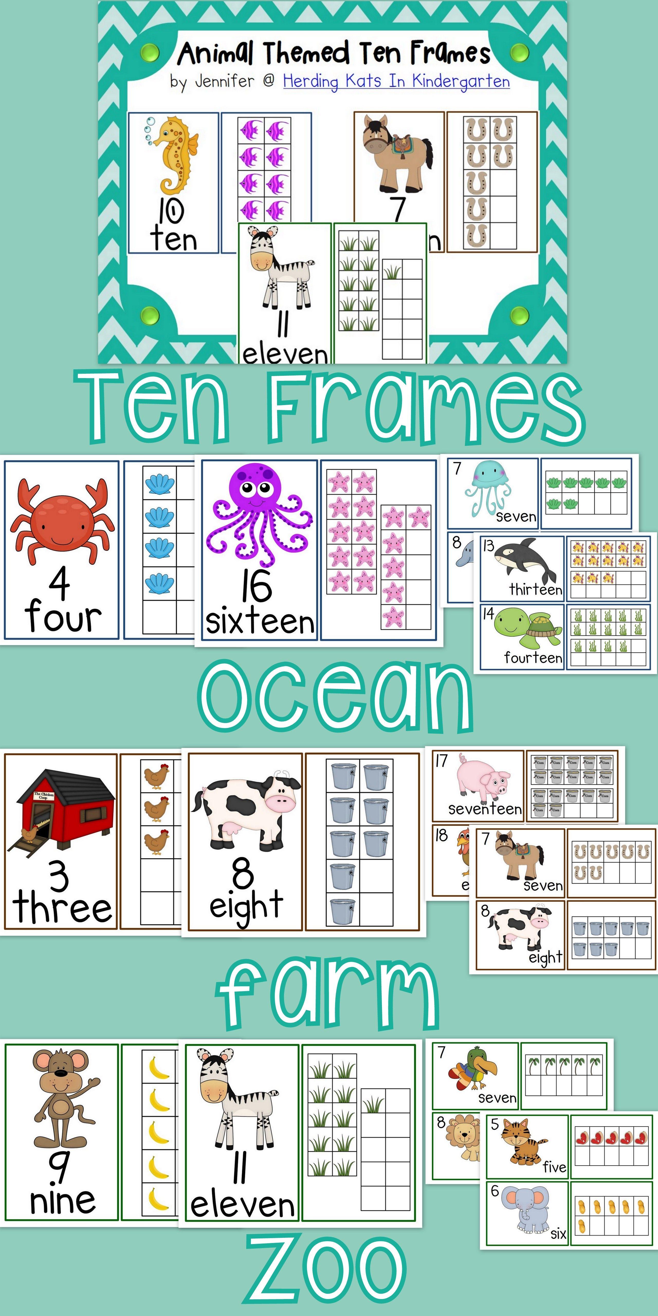 Ten Frames Pack | Ten frames, Recording sheets and Math