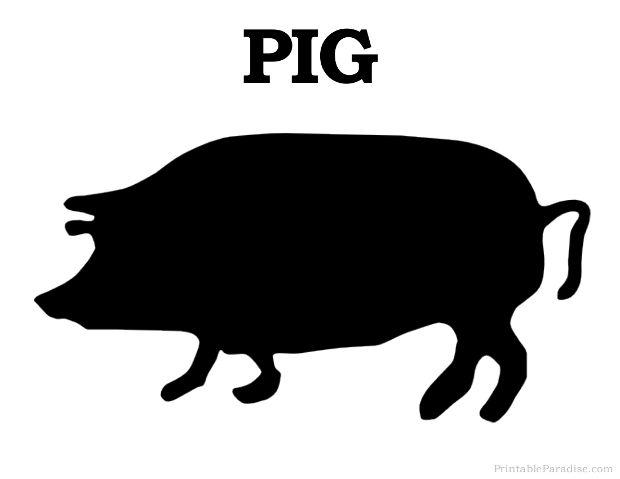 Print Free Pig Silhouette