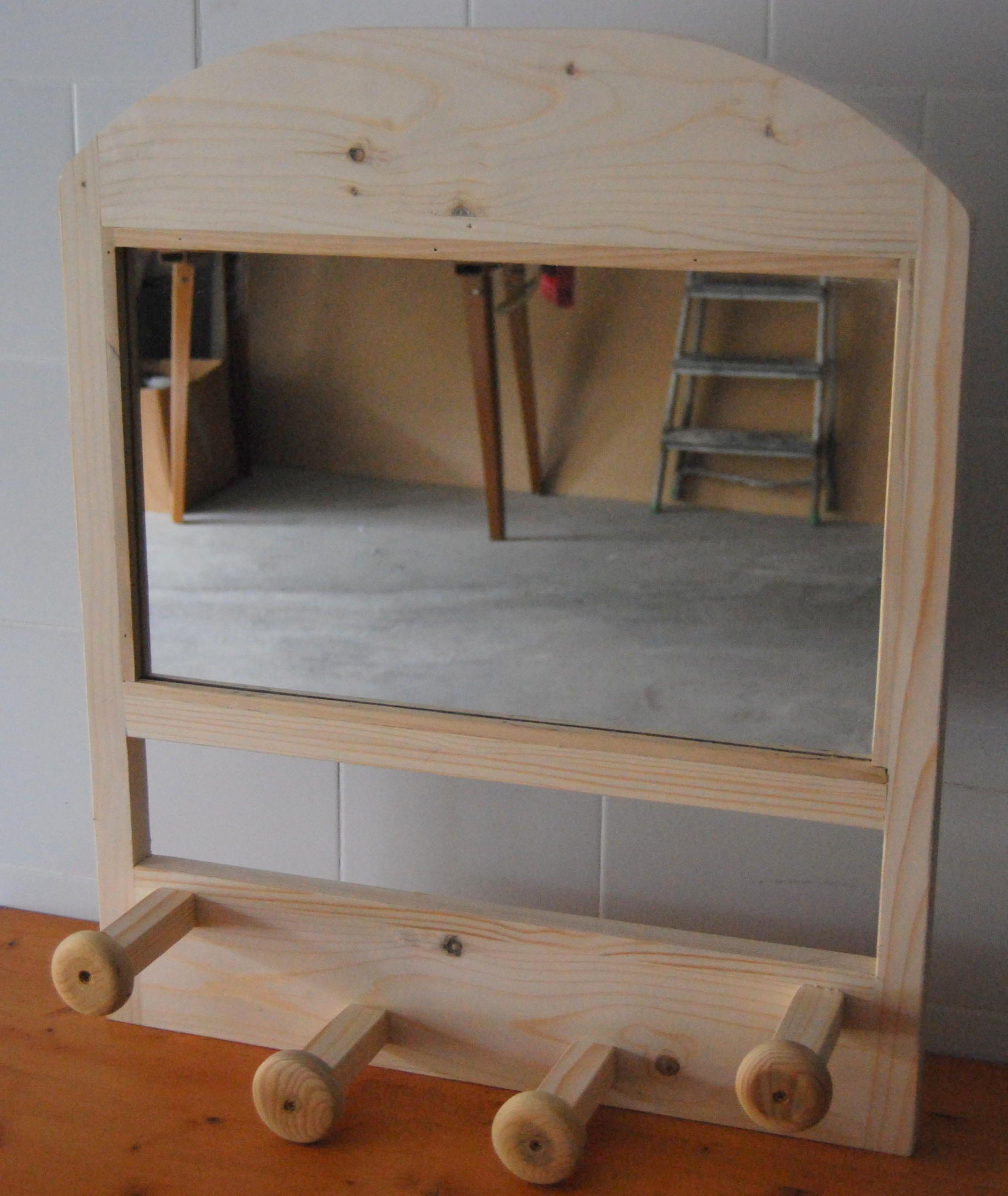 Espejo Perchero Colgador Todo En Uno Qu M S Quieres Madera  # Muebles Todo En Uno