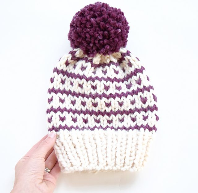 Breckenridge Fair Isle Hat pattern by Country Pine Designs ...