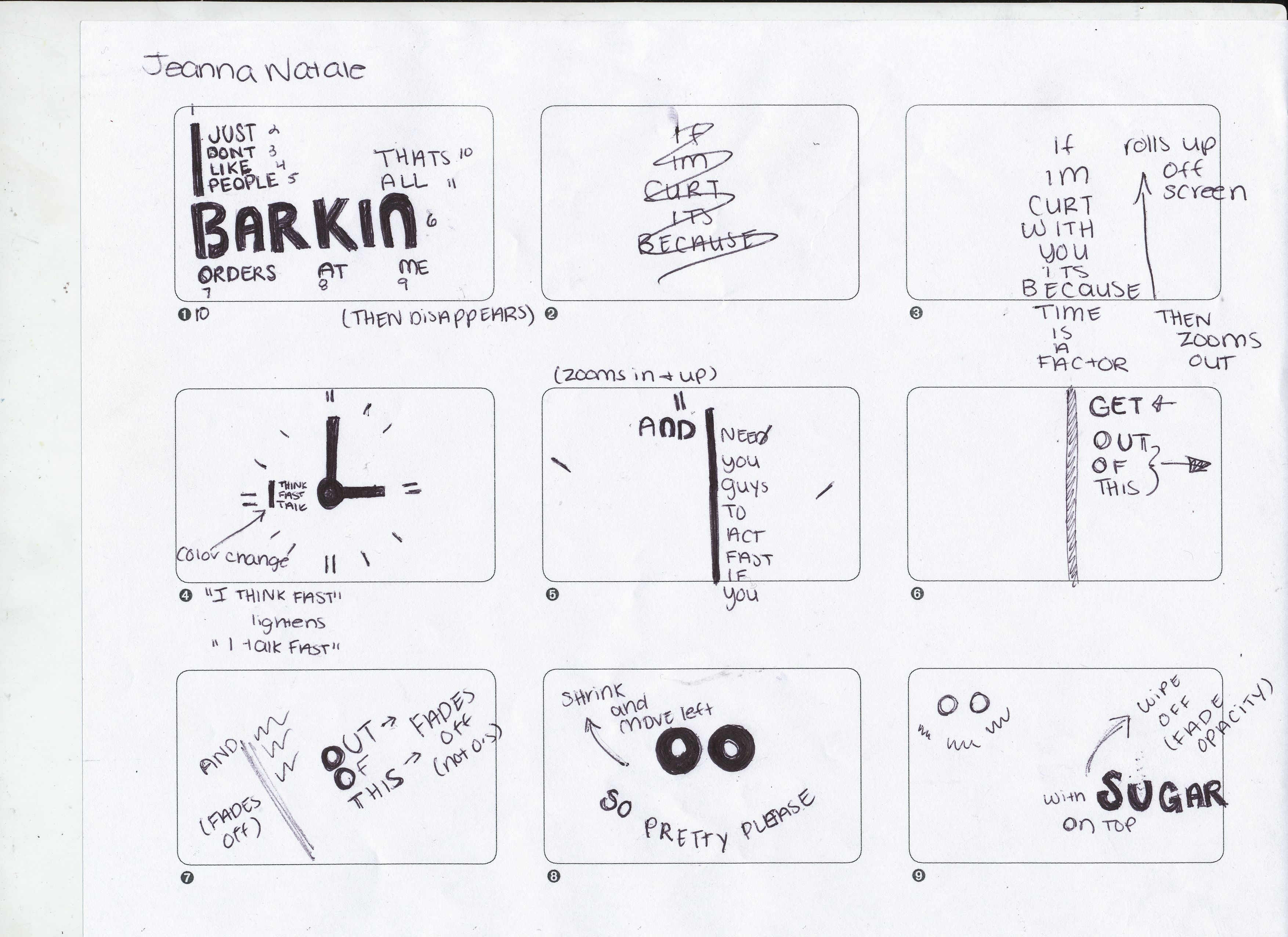 Pography Storyboard | Examples Of Storyboards For Kinetic Typography Google Search