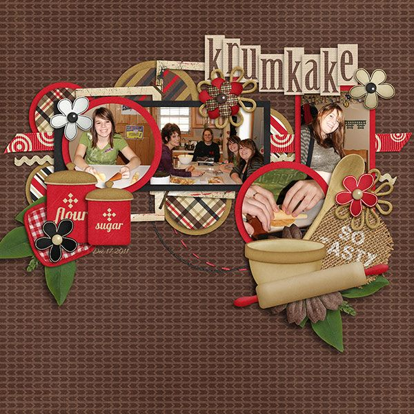 In the Kitchen - Baking by Little Rad Trio Dec 1-14 Template Challenge by Seatrout Scraps