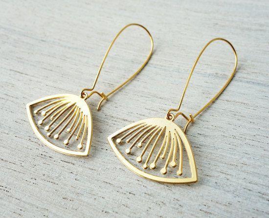 Sif Earrings floral pendant Scandinavian design by shlomitofir