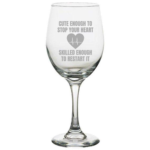 Monogram Engraved Etched Stemless Wine Glass m9 design