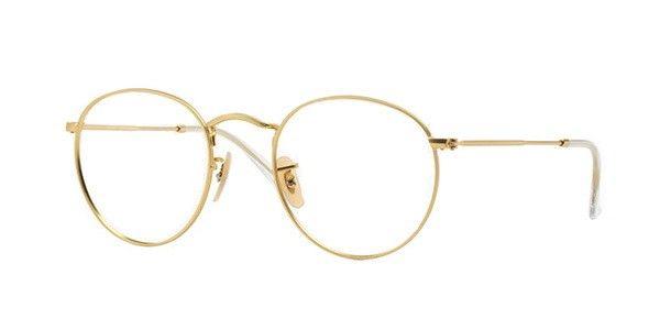 f35d40d3c1dc68 lunettes de vue ray ban rx 3447v doré 2730   Lunettes   Lunettes ...