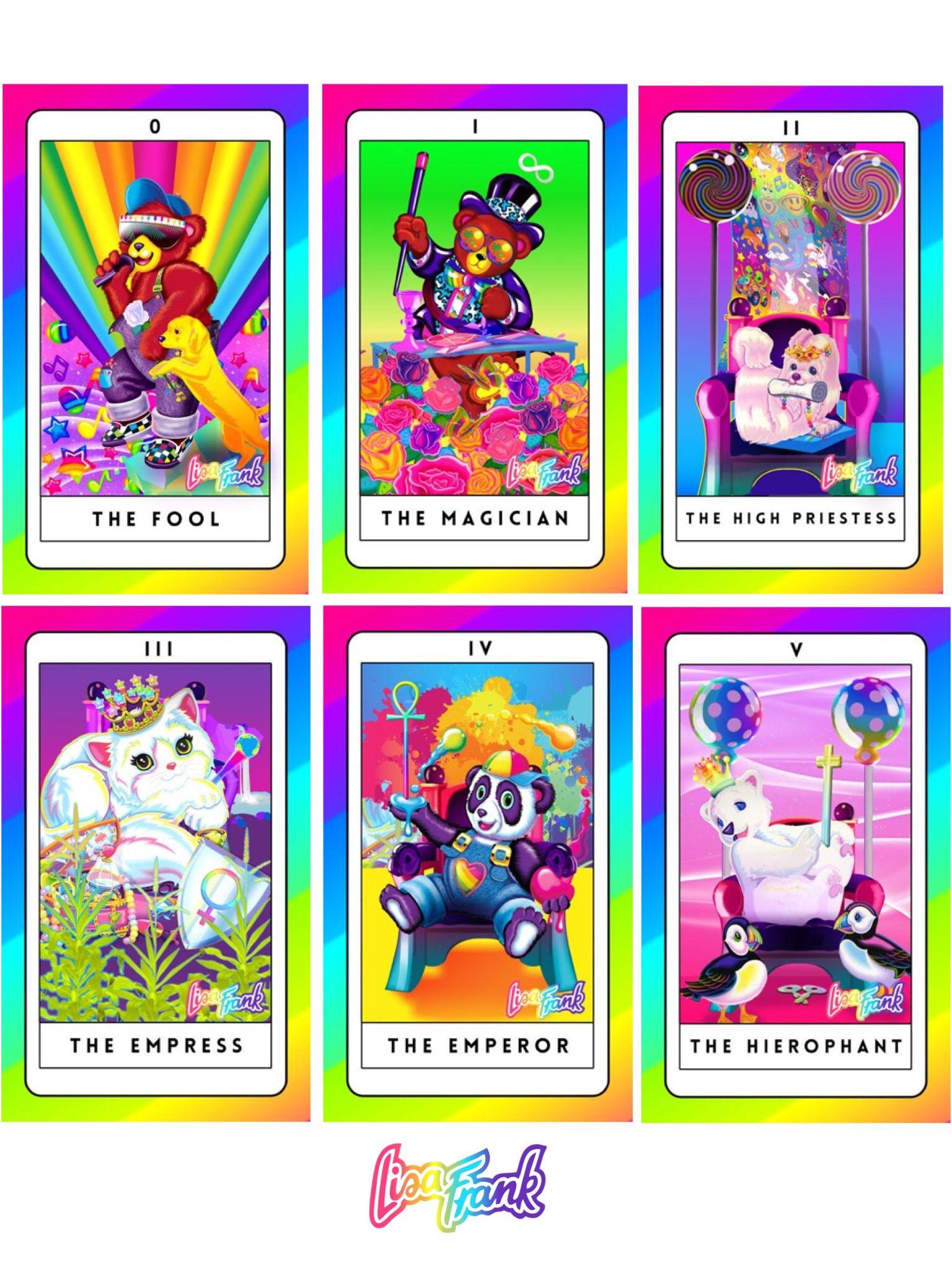 Lisa frank tarot cards tarot cards angel cards