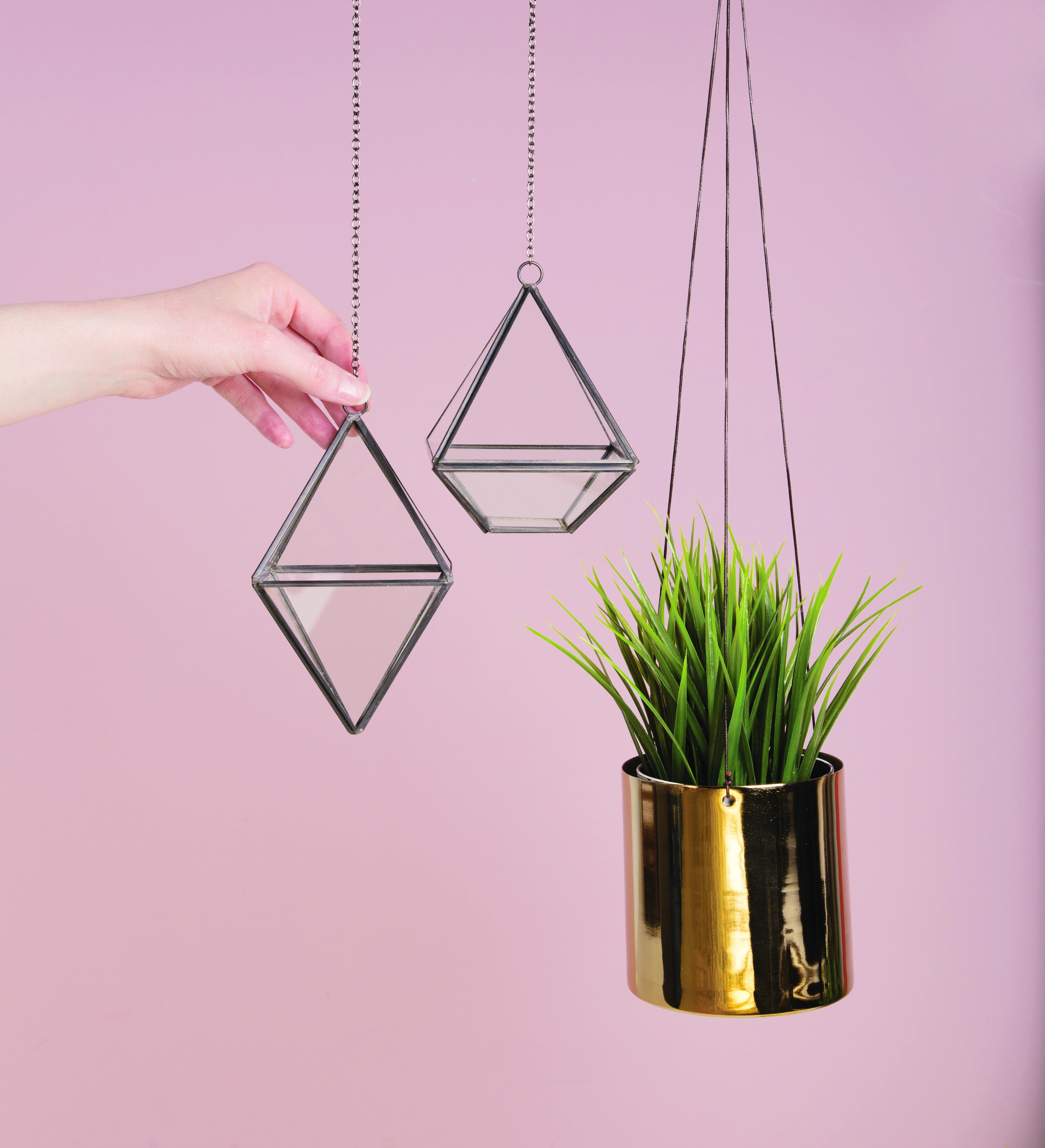 Hanging Brass Planter Black Hanging Terrariums Planters Vases