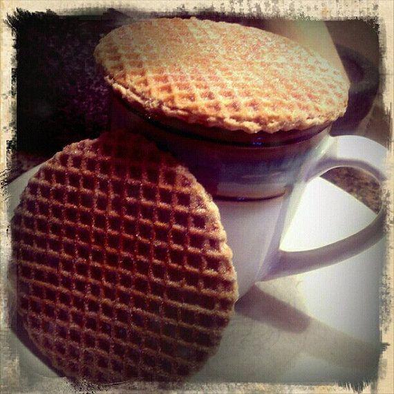 stroopwafel dutch waffle cookie with a cinnamon caramel centerlindsaytruffler 12 for 1196