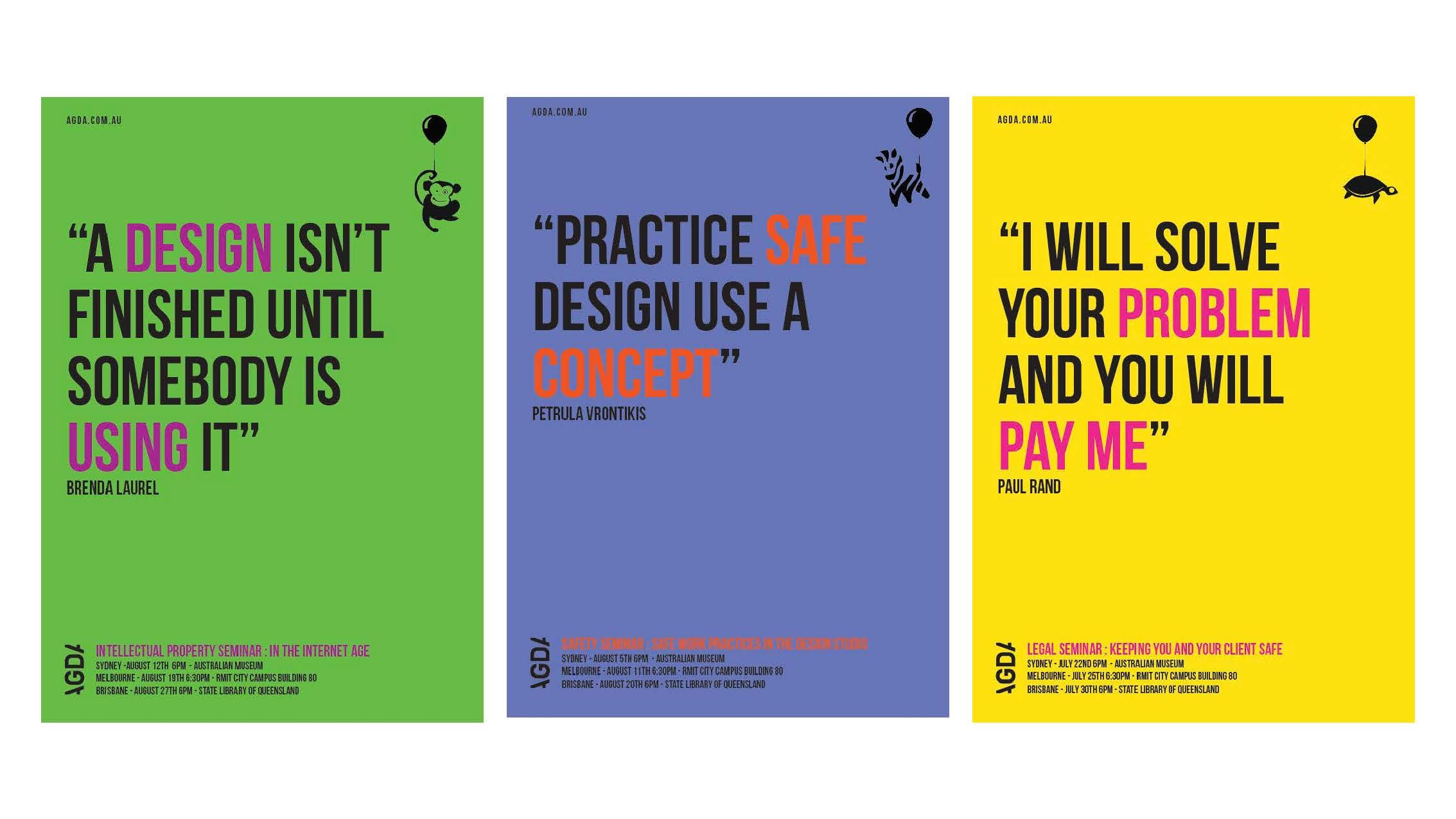 Poster design for students - Catc Students Were Asked To Produce A Series Of Posters For Upcoming Agda Seminars