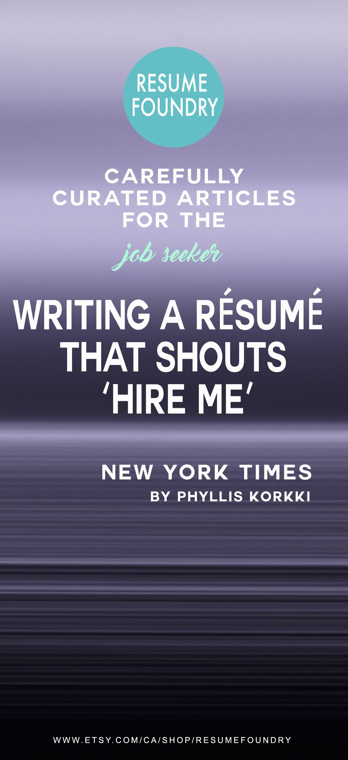 Writing A Rsum That Shouts Hire Me  Professional Resume