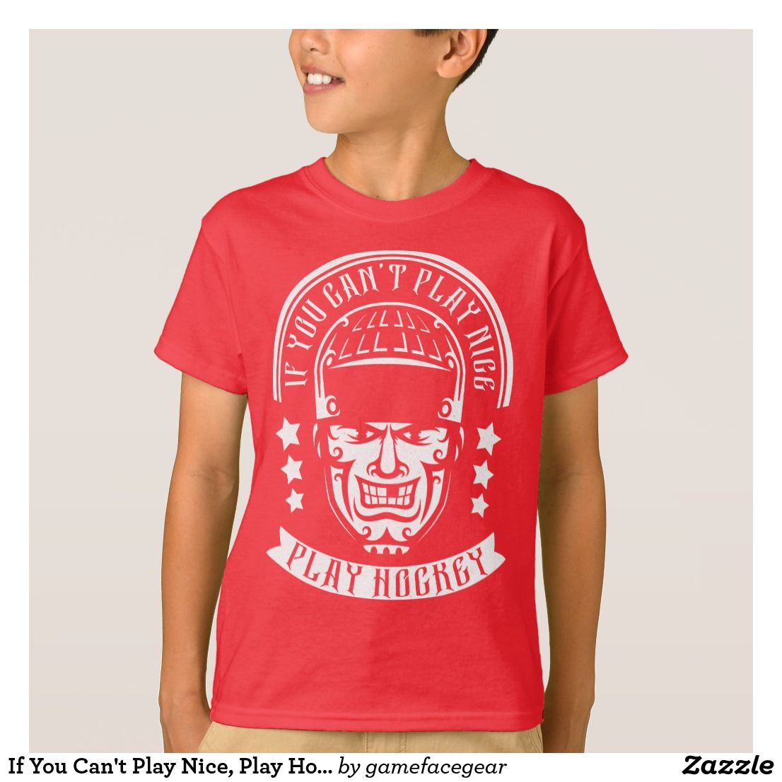 You Can T Play Boxing Shirt: If You Can't Play Nice, Play Hockey Tee Shirt