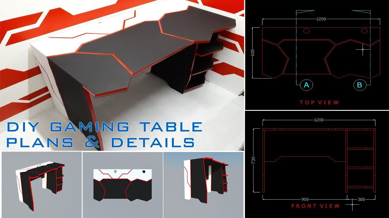 Diy Gaming Desk Using Basic Tools Plans And Details Gaming Desk Diy Gaming Desk Gaming Table Diy