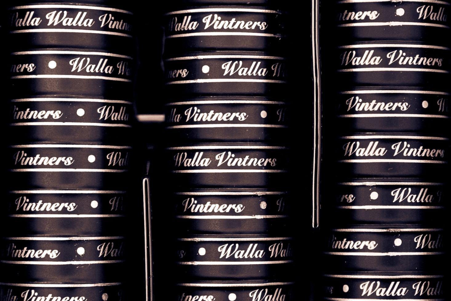 Walla Walla Vintner foils ready to go on bottles.