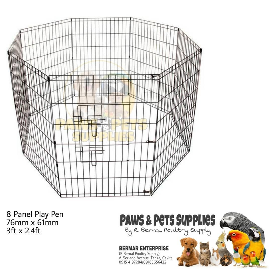 8 Panel Play Pen for Dogs Visit us at PAWS AND PETS