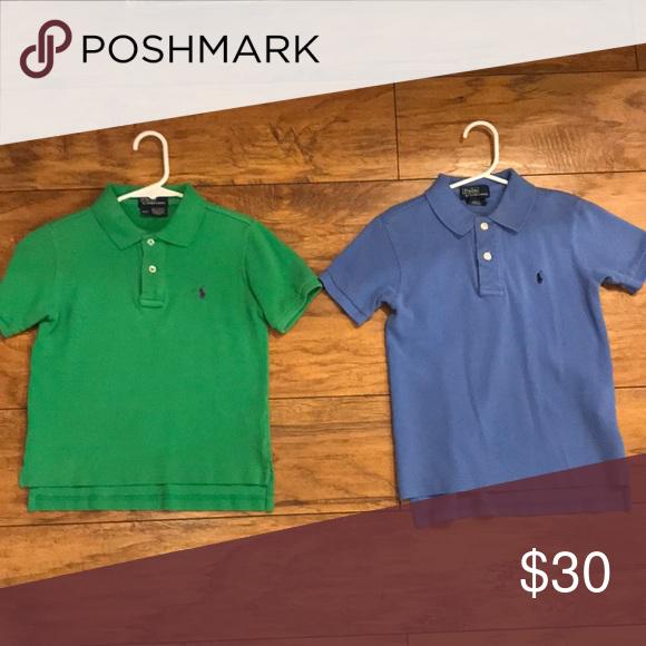 28b29e50f 2 polo shirts boys Ralph Lauren Polo (1) green (1) blue Both size 4/4T EUC  Polo by Ralph Lauren Shirts & Tops Polos