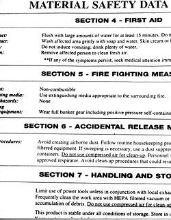 Material Safety Data Sheet To Check Safety Of Ingredients In