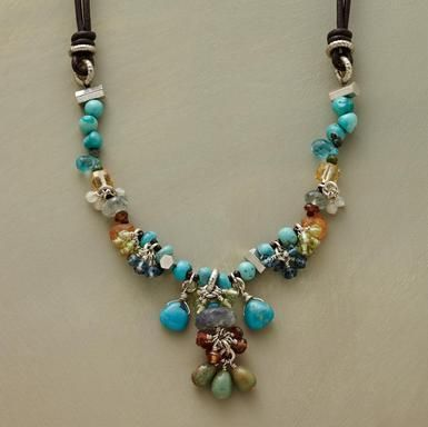 Handmade with turquoise, gemstone and sterling silver beads  Sundance Catalog <3