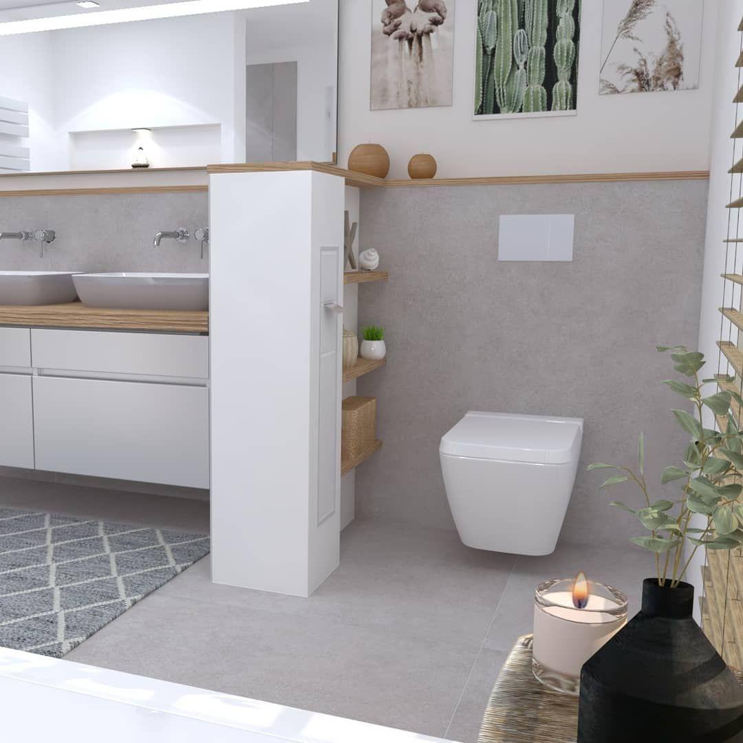 Passion Tiles On Instagram Werbung Badplanung Fur Wohnsinnig 3dplanung Badevaerelse Salledebain Bathroom Decor Gray Interior Bathroom Design
