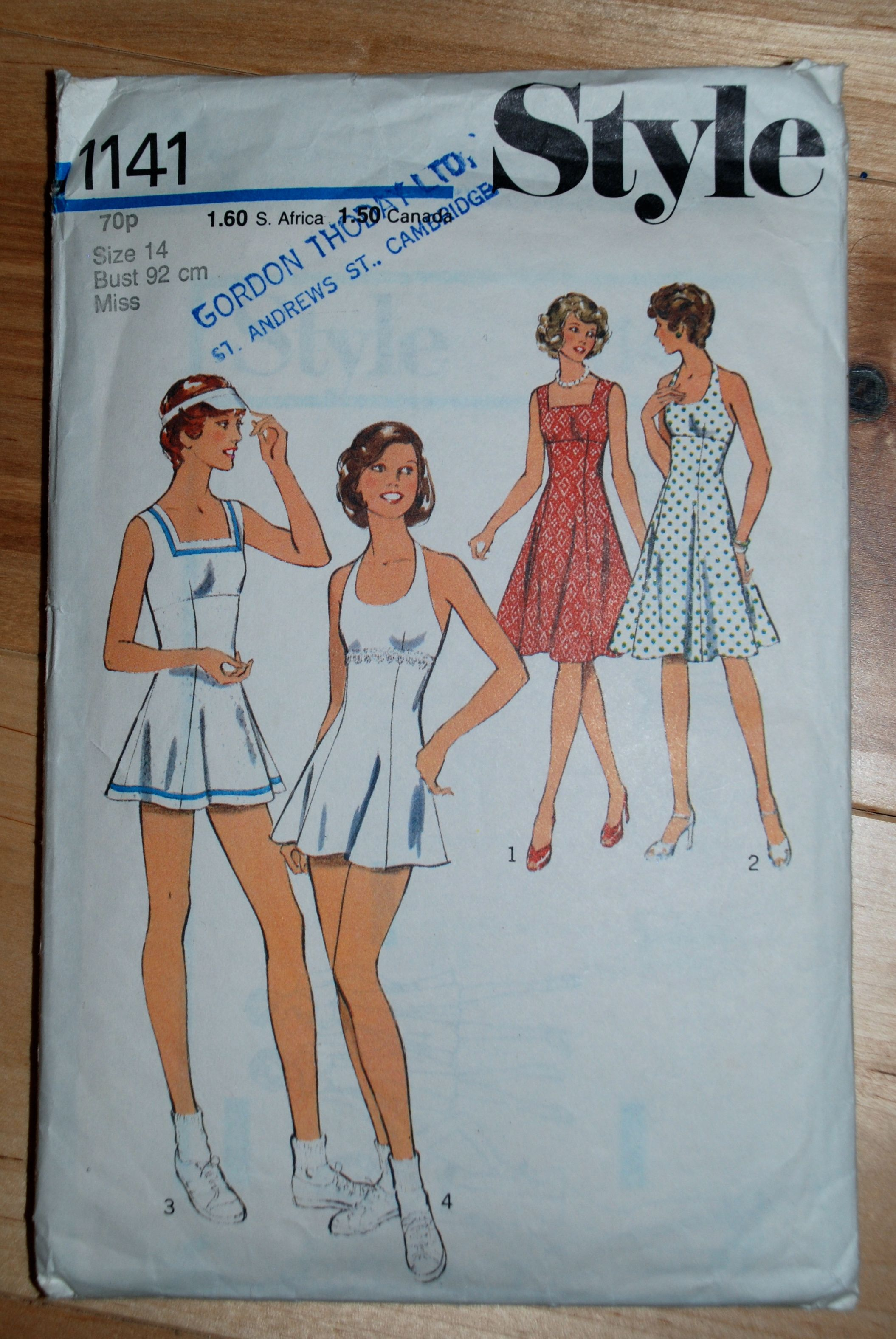Vintage Tennis Outfit Pattern Clothing Patterns Dress Sewing Patterns Tennis Clothes