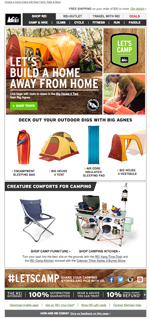 REI outdoors~ Everytime I walk into an REI store I feel compelled to venture out into nature
