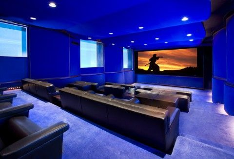 Home theater - Gorgeous color - bright palette | Dream Home ...