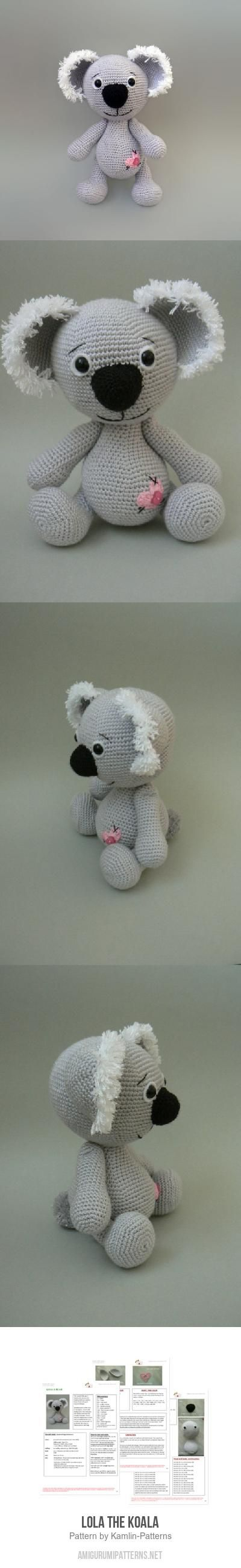 Lola the Koala amigurumi pattern by Kamlin Patterns   Pinterest ...