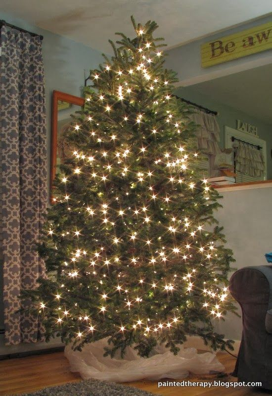 How to put lights on a tree - How To Put Lights On A Tree Waiting For The Holidays Christmas