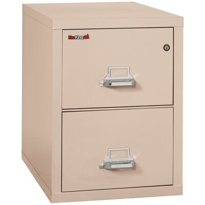 Fireking Fireproof 2 Drawer Vertical File Cabinet Color Champagne Lock Manipulation Proof Comb Lock Size 17 In 2020 Filing Cabinet Cabinet Drawer Filing Cabinet