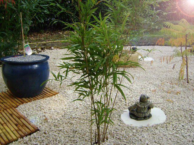 Aménagement d\u0027un jardin zen,japonais