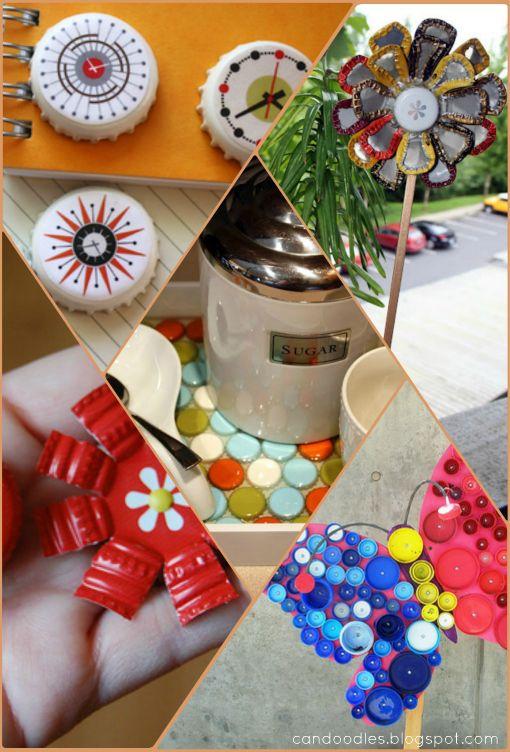 ReFab Diaries: Bottle-cap decorating ...
