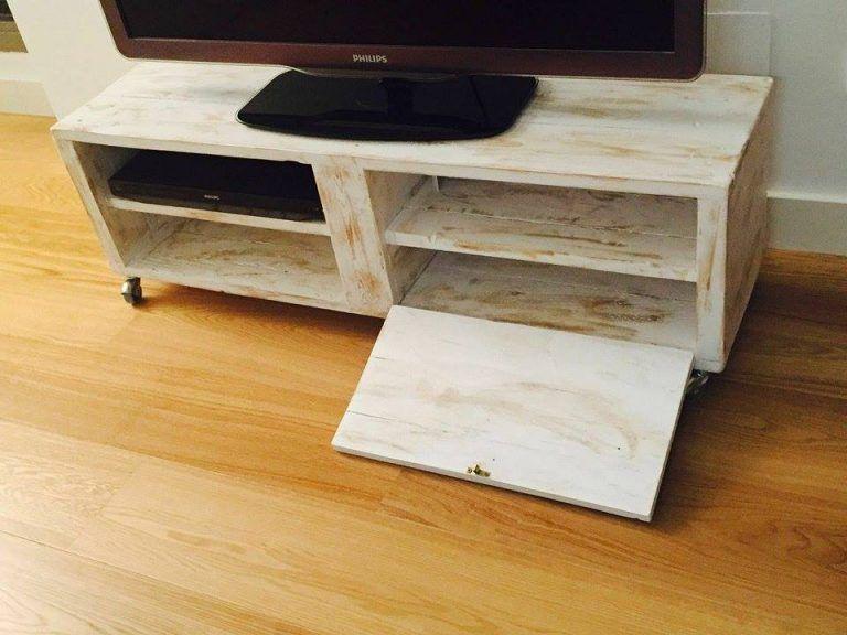 mueble de palet para la televisión | Palets | Pinterest | Muebles de ...