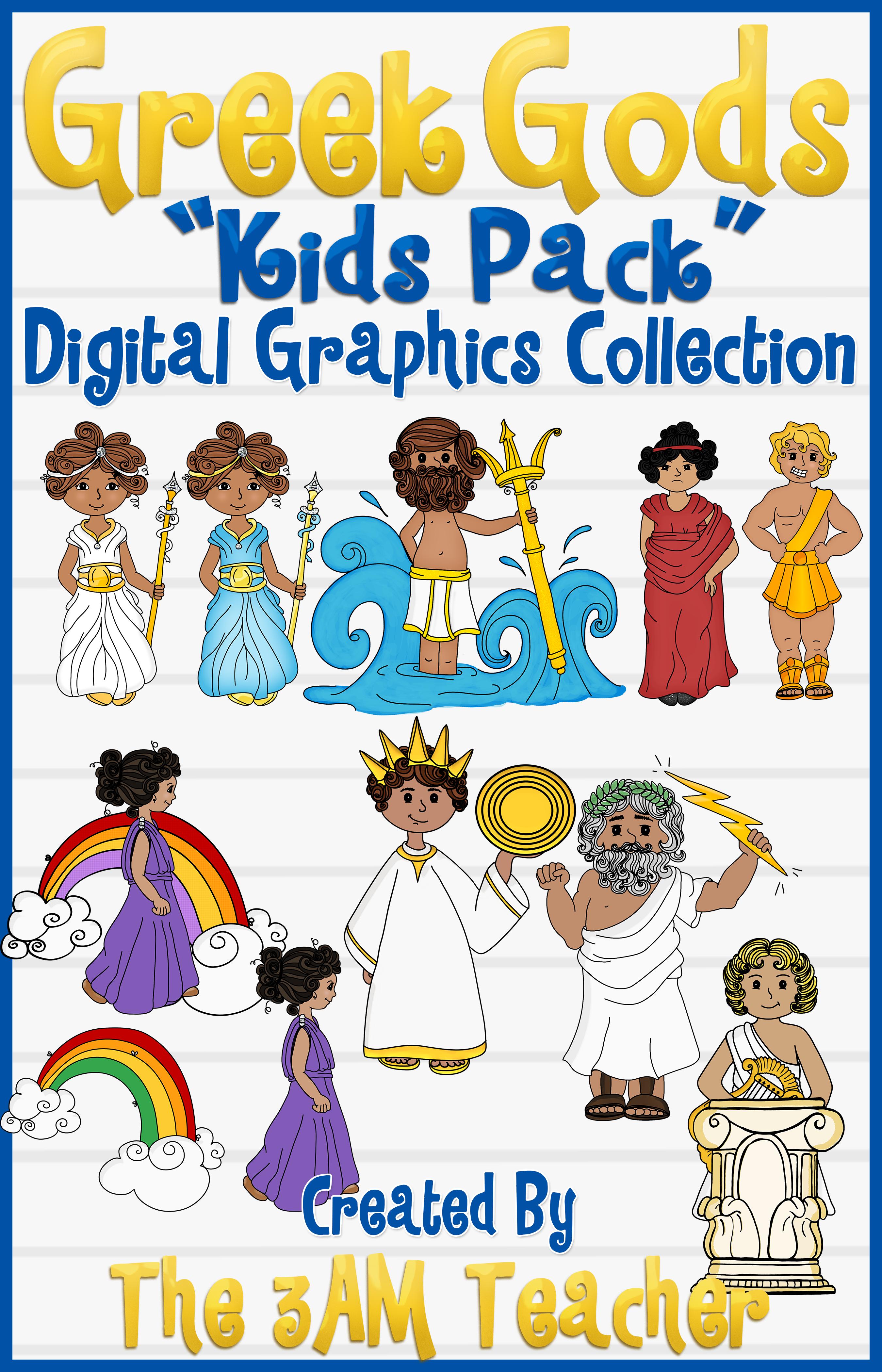 Greek Gods Kids Pack Clip Art