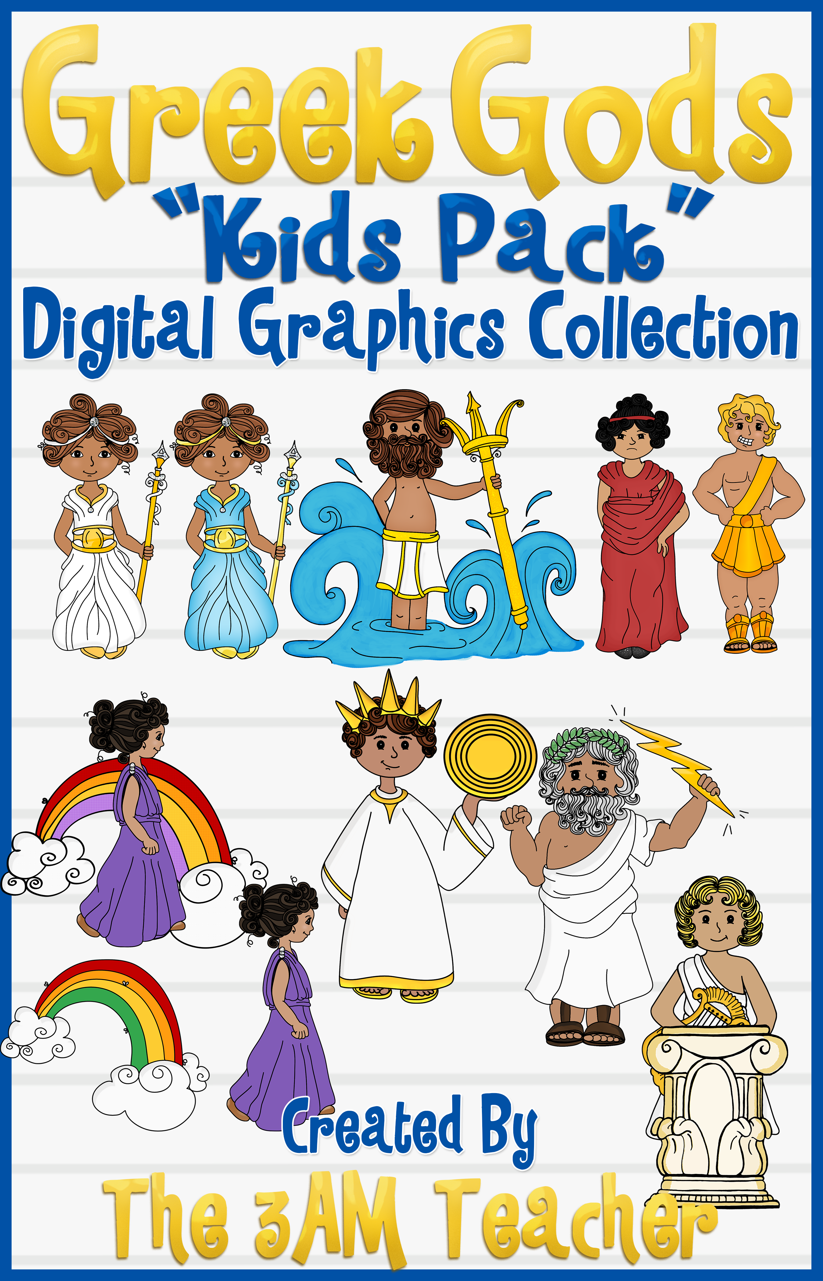 Greek Gods Kids Pack Clip Art
