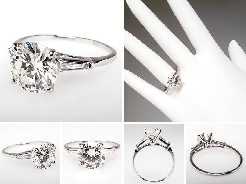 vintage round cut w/ tapered baguettes | Wedding in 2019 ...