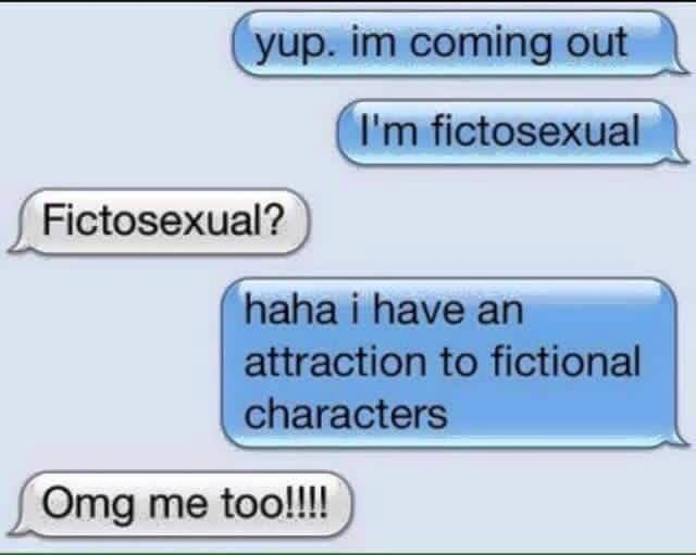 Fictosexual definition